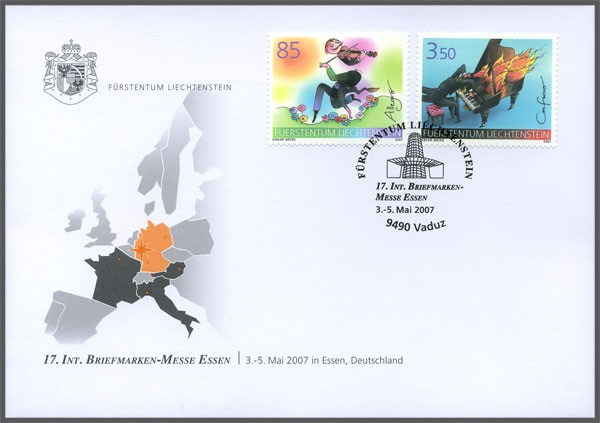 Messebeleg - 17. Internationale Briefmarken-Messe, Essen