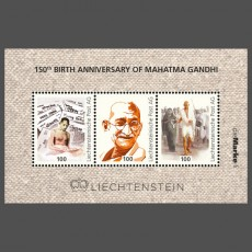 150th Birth Anniversary of Mahatma Gandhi (2019) 1 Fr. - Briefmarkenblock postfrisch**
