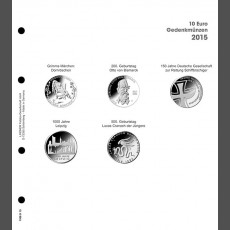Illustrated page 10 Euro commemorative coins: Germany 2015
