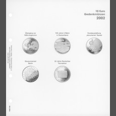 Illustrated page 10 Euro commemorative coins: Germany 2002