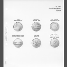 Illustrated page 10 Euro commemorative coins: Germany 2005