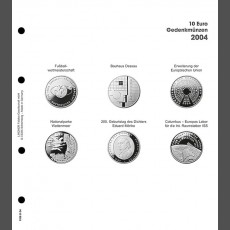 Illustrated page 10 Euro commemorative coins: Germany 2004
