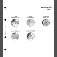 Illustrated page 10 Euro commemorative coins: Germany 2007