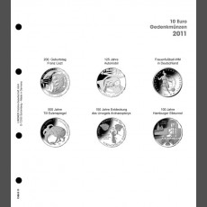 Illustrated page 10 Euro commemorative coins: Germany 2011