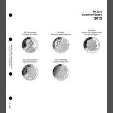 Illustrated page 10 Euro commemorative coins: Germany 2012