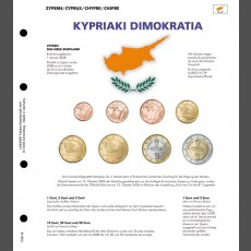 Illustrated  page for Euro coin sets – NEW EURO-COUNTRIES Cyprus