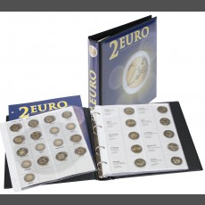 Illustrated Album for 2-Euro Commemorative coins: all Euro Countries (in chronological order ending with Spain 2012)
