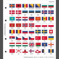 Perforated color flag-page
