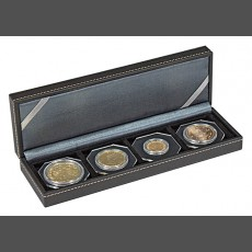 NERA Coin Case S with 4 square compartments for coins or capsules with a diameter up to 52 mm