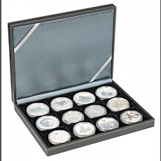 NERA Coin Case XM with 12 square compartments for coins or capsules with a diameter up to 52 mm