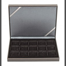 NERA Coin Case XM with 15 square compartments for coins or capsules with a diameter up to 40 mm