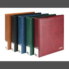 PUBLICA L Postcard Album, Photo Album-wine-red