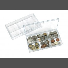Transparent compartment box with 6 compartments (63 x 48 mm/each), pack of 10