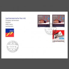 Special Cover - First use date postmark Business Centre 9494 Schaan