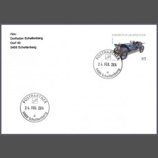 Special Cover - First use date postmark post partner 9488 Schellenberg (a)
