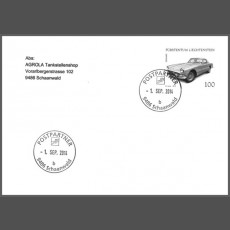 Special Cover - First use date postmark post partner 9486 Schaanwald (b)