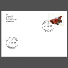 Special Cover – First use date postmark post partner 9485 Nendeln (a)