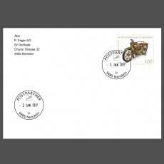 Special Cover – First use date postmark post partner 9485 Nendeln (b)