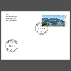 Special Cover - First use date postmark post partner 9497 Triesenberg (b)