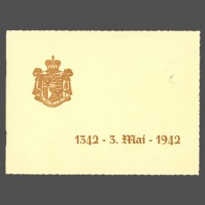 Gift booklet 600th anniversary 1942