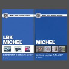 MICHEL - Schweiz-Spezial- & MICHEL-LBK-Liechtenstein-Spezial-Katalog 2016/2017 (Set) only available in German