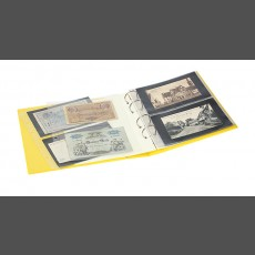 PUBLICA M COLOR Banknote Album two variations, with 10 sheet pages each that can be filled from both sides-Solino