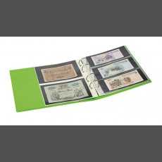 PUBLICA M COLOR Banknote Album two variations, with 10 sheet pages each that can be filled from both sides-Spring