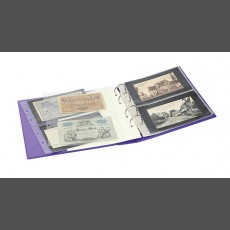 PUBLICA M COLOR Banknote Album two variations, with 10 sheet pages each that can be filled from both sides-Viola