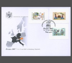Stamp fair cover - ÖVEBRIA 2007, Hirtenberg